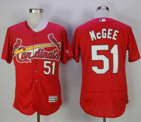 Wholesale Cheap Cardinals #51 Willie McGee Red Flexbase Authentic Collection Stitched MLB Jersey