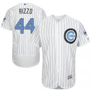 Wholesale Cheap Cubs #44 Anthony Rizzo White(Blue Strip) Flexbase Authentic Collection Father's Day Stitched MLB Jersey