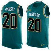 Wholesale Cheap Nike Jaguars #20 Jalen Ramsey Teal Green Alternate Men's Stitched NFL Limited Tank Top Jersey