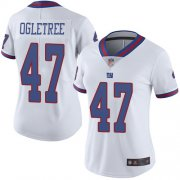 Wholesale Cheap Nike Giants #47 Alec Ogletree White Women's Stitched NFL Limited Rush Jersey