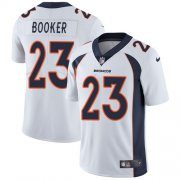 Wholesale Cheap Nike Broncos #23 Devontae Booker White Men's Stitched NFL Vapor Untouchable Limited Jersey