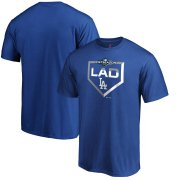 Wholesale Cheap Los Angeles Dodgers Majestic 2019 Postseason Dugout Authentic T-Shirt Royal