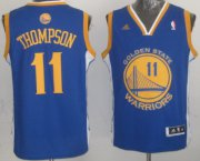 Wholesale Cheap Golden State Warriors #11 Klay Thompson Revolution 30 Swingman Blue Jersey