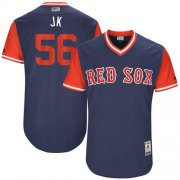 "Wholesale Cheap Red Sox #56 Joe Kelly Navy ""JK"" Players Weekend Authentic Stitched MLB Jersey"