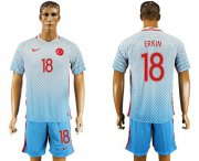 Wholesale Cheap Turkey #18 Erkin Away Soccer Country Jersey