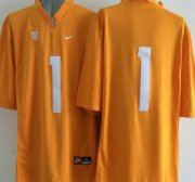 Wholesale Cheap Tennessee Volunteers #1 Orange 2015 College Football adidas Jersey