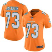 Wholesale Cheap Nike Dolphins #73 Austin Jackson Orange Women's Stitched NFL Limited Rush Jersey