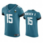 Wholesale Cheap Jacksonville Jaguars #15 Gardner Minshew II Teal 25th Season Vapor Elite Stitched NFL Jersey
