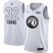 Wholesale Cheap Nike Timberwolves #32 Karl-Anthony Towns White NBA Jordan Swingman 2018 All-Star Game Jersey