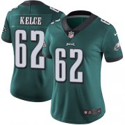 Wholesale Cheap Nike Eagles #62 Jason Kelce Midnight Green Team Color Women's Stitched NFL Vapor Untouchable Limited Jersey