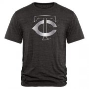 Wholesale Cheap Minnesota Twins Fanatics Apparel Platinum Collection Tri-Blend T-Shirt Black