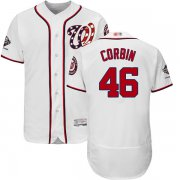 Wholesale Cheap Nationals #46 Patrick Corbin White Flexbase Authentic Collection 2019 World Series Champions Stitched MLB Jersey