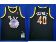 Wholesale Cheap Men's Golden State Warriors #40 Sick Wid It E-40 X Limited Edition Black Jersey