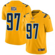 Wholesale Cheap Nike Chargers #97 Joey Bosa Gold Men's Stitched NFL Limited Inverted Legend Jersey
