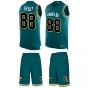 Wholesale Cheap Nike Jaguars #88 Tyler Eifert Teal Green Alternate Men's Stitched NFL Limited Tank Top Suit Jersey