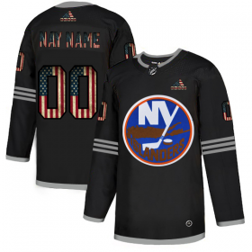 Wholesale Cheap New York Islanders Custom Adidas Men\'s Black USA Flag Limited NHL Jersey