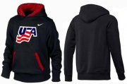 Wholesale Cheap Olympic Team USA Pullover Hoodie Black/Red