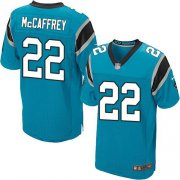 Wholesale Cheap Nike Panthers #22 Christian McCaffrey Blue Alternate Men's Stitched NFL Elite Jersey