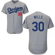 Wholesale Cheap Dodgers #30 Maury Wills Grey Flexbase Authentic Collection Stitched MLB Jersey