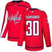 Wholesale Cheap Adidas Capitals #30 Ilya Samsonov Red Home Authentic Stitched NHL Jersey