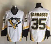 Wholesale Cheap Penguins #35 Tom Barrasso White CCM Throwback Stitched NHL Jersey