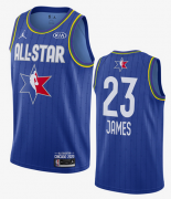 Wholesale Cheap Men's Los Angeles Lakers #23 LeBron James Blue Jordan Brand 2020 All-Star Game Swingman Stitched NBA Jersey