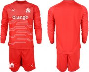 Wholesale Cheap Marseille Blank Red Goalkeeper Long Sleeves Soccer Club Jersey