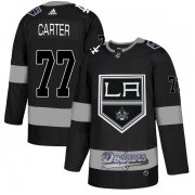 Wholesale Cheap Adidas Kings X Dodgers #77 Jeff Carter Black Authentic City Joint Name Stitched NHL Jersey