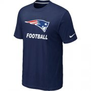Wholesale Cheap Men's New England Patriots Football Authentic Nike T-Shirt Blue