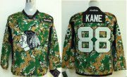 Wholesale Cheap Blackhawks #88 Patrick Kane Camo Veterans Day Practice Stitched Youth NHL Jersey