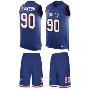 Wholesale Cheap Nike Bills #90 Shaq Lawson Royal Blue Team Color Men's Stitched NFL Limited Tank Top Suit Jersey