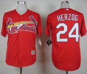 Wholesale Cheap Cardinals #24 Whitey Herzog Red New Cool Base Stitched MLB Jersey