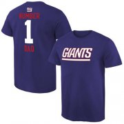 Wholesale Cheap Men's New York Giants Pro Line College Number 1 Dad T-Shirt Royal