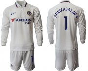 Wholesale Cheap Chelsea #1 Arrizabalaga Away Long Sleeves Soccer Club Jersey