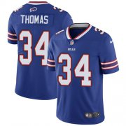 Wholesale Cheap Nike Bills #34 Thurman Thomas Royal Blue Team Color Men's Stitched NFL Vapor Untouchable Limited Jersey