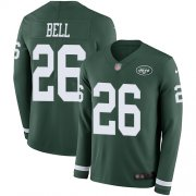 Wholesale Cheap Nike Jets #26 Le'Veon Bell Green Team Color Youth Stitched NFL Limited Therma Long Sleeve Jersey