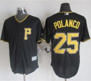 Wholesale Cheap Pirates #25 Gregory Polanco Black New Cool Base Stitched MLB Jersey