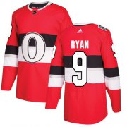 Wholesale Cheap Adidas Senators #9 Bobby Ryan Red Authentic 2017 100 Classic Stitched NHL Jersey