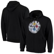 Wholesale Cheap Pittsburgh Steelers G-III Sports by Carl Banks Primary Logo Full-Zip Hoodie Black