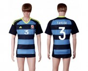 Wholesale Cheap Wales #3 Taylor Away Soccer Country Jersey