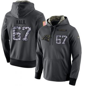 Wholesale Cheap NFL Men\'s Nike Carolina Panthers #67 Ryan Kalil Stitched Black Anthracite Salute to Service Player Performance Hoodie