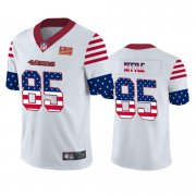 Wholesale Cheap San Francisco 49ers #85 George Kittle White Men's Nike Team Logo USA Flag Vapor Untouchable Limited NFL Jersey