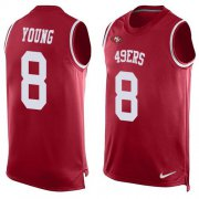 Wholesale Cheap Nike 49ers #8 Steve Young Red Team Color Men's Stitched NFL Limited Tank Top Jersey