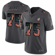 Wholesale Cheap Nike Raiders #75 Howie Long 2018 Salute To Service Retro USA Flag Limited NFL Jersey