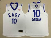 Wholesale Cheap 2015-16 NBA Eastern All-Stars Men's #10 Demar DeRozan Revolution 30 Swingman White Jersey