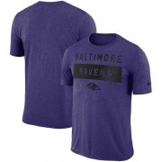 Wholesale Cheap Men's Baltimore Ravens Nike Purple Sideline Legend Lift Performance T-Shirt