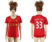 Wholesale Cheap Women's Liverpool #33 Shelvey Red Home Soccer Club Jersey