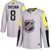 Wholesale Cheap Adidas Capitals #8 Alex Ovechkin Gray 2018 All-Star Metro Division Authentic Stitched Youth NHL Jersey