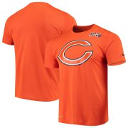 Wholesale Cheap Chicago Bears Nike Primary Logo Legend 100th Season Performance T-Shirt Orange