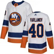 Wholesale Cheap Adidas Islanders #40 Semyon Varlamov White Road Authentic Stitched NHL Jersey